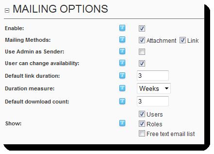 Mailing Options